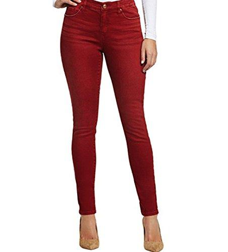 Gloria Vanderbilt Women's Jessa Curvy Fit Skinny Jeans (Magma Red, 10) by Gloria Vanderbilt