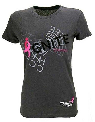 Susan G. Komen for the Cure Ignite Change Spiral T-Shirt Charcoal. KOMELT0030