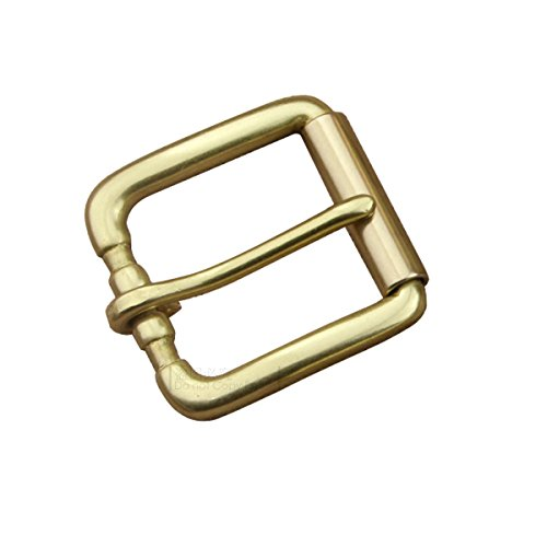 DIY Heavy Duty Roller Buckle Solid Brass Pin Buckle for Leather Belt 1 1/2