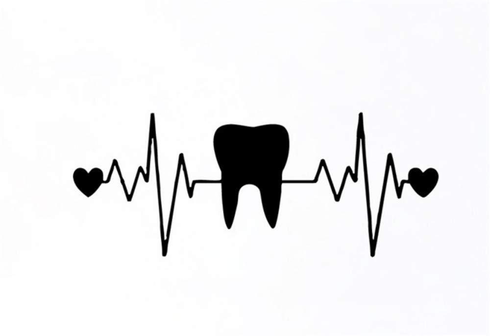 Waofe Dientes Dentista Odontología Corazón Ecg Vinilo Arte De La ...
