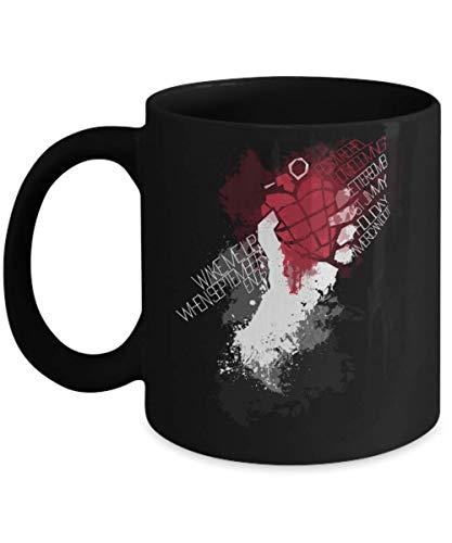 Green Day Heart Grenade Coffee Mugs/Cups