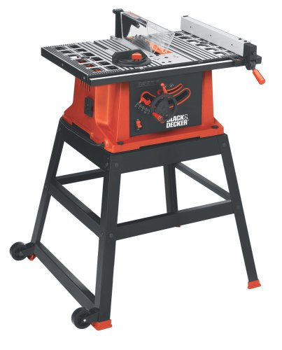 Black & Decker BDTS200 15-Amp Table Saw with Stand and Wheels