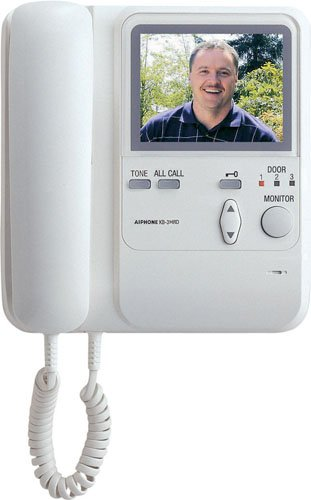 Aiphone KB-3HRD Audio/Video Sub-Master Station with Handset and Tilt Camera Control for KB Series Intercom System