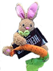 Fluffy Plush Easter Bunny with Floppy Ears-carrot and Delicious Giant Milk Chocolate Hershey Bar Candy-milk Chocolate Sweet Stuffed Bunny Rabbit Cotton Tail Appearance-springtime Easter Bundle Gift Set !