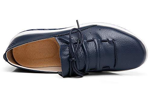 Scarpe Casual Fitness Benessere Piattaforma Antiscivolo Fuori Moda Blue Zeppa Dimagranti Glutei Donna Traspirante Maglia Aitaobao qwpBHFnOF
