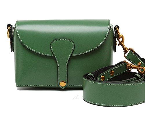 La mujer Xinmaoyuan Bolsos Verano Bolso bandolera ancha de color sólido simple paquete sobres bolsos de cuero,verde Green