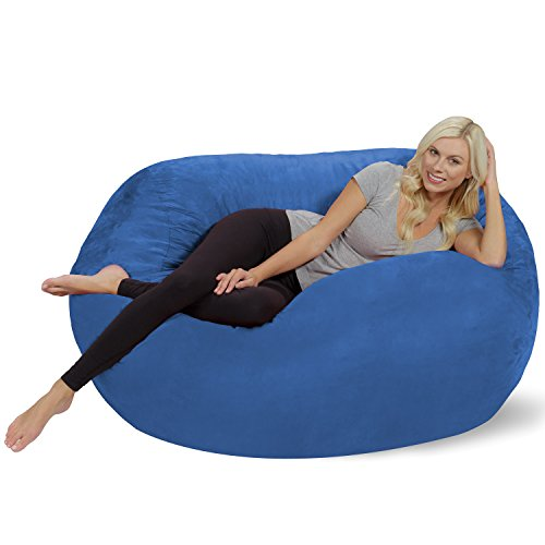 Chill Sack Bean Bag Chair: Huge 5' Memory Foam Furniture Bag and Large Lounger - Big Sofa with Soft Micro Fiber Cover - Royal Blue