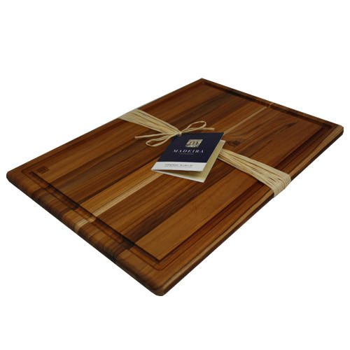 Madeira Provo Teak Edge-Grain (Dark Wood Cutting Board)