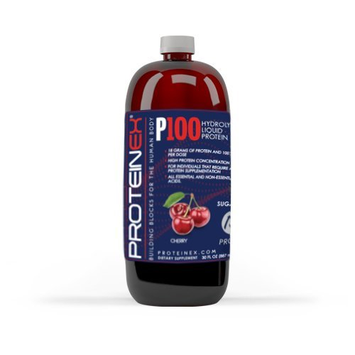 Proteinex P100 Liquid Predigested Protein cherry flavor 30 oz. (Amino Acids Predigested)