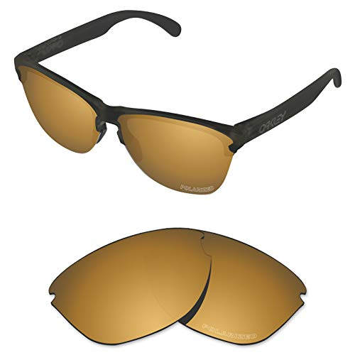 Tintart Performance Lenses Compatible with Oakley Frogskins Lite Polarized Etched-Tungsten - Lite Lens Gold