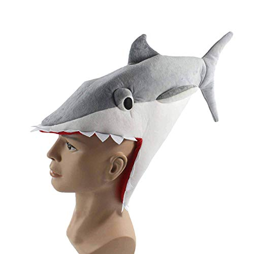 (Well Controlled Vibration Have A Good Try 1Pc Halloween Hat Funny Aquarium Shark Piranha Plush Toy Stuffed Fish Cap,Grey,OneSize,Fifty Shades Grey Toys Adllt Vibratos Women)