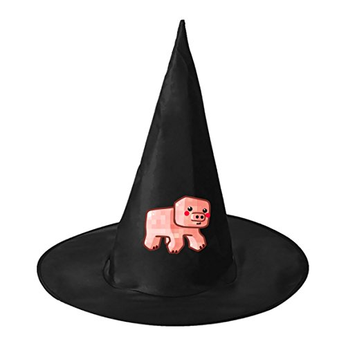 Halloween Witch Hat Wizard Hat Pig Minecraft Kids Adult Black Personalizes Costume Accessory