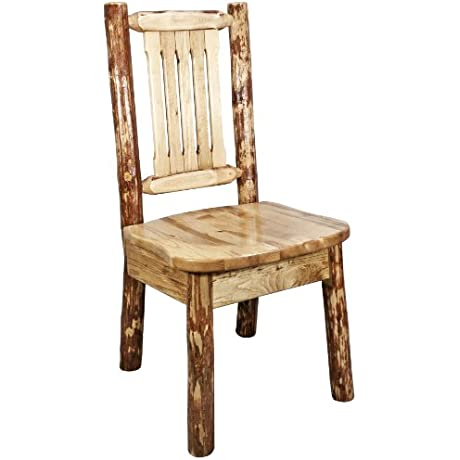 Montana Woodworks Glacier Country Collection Dining Side Chair With Ergonomic Wooden Seat