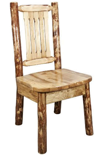 Montana Woodworks MWGCKSCN Glacier Country Collection Dining Side Chair with Ergonomic Wooden Seat