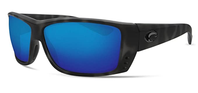 6ecc239d06 Costa Del Mar Ocearch Cat Cay Sunglass Ocearch Matte Tiger Shark Blue  Mirror 580Glass  Amazon.co.uk  Clothing