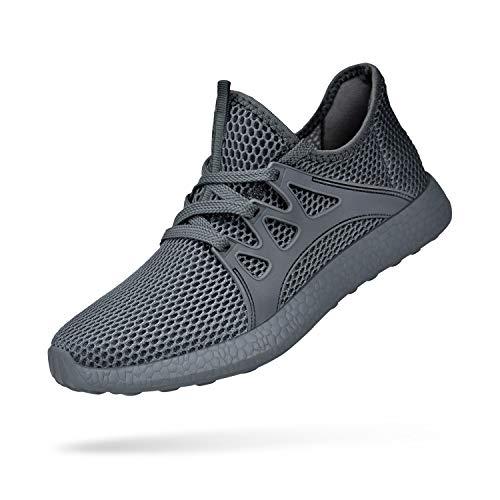 KIKOSOCKS Men Sneakers Flyknit Running Shoes Work Shoes Training Shoes Dark Grey 12 M US