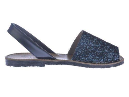 Azul mod de en Garantia Todo Sandalias Spain Piel Marino Calzado in 204 Made Menorquinas calidad Glitter qpaWXAwn6x