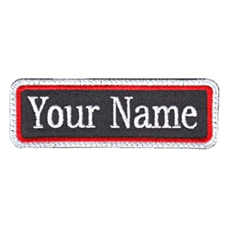 e312ec386827 Rectangular 1 Line Custom Embroidered Name Tag Sew On Patch (C)