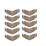 FGen 10pcs Chinese Antique Copper Edging, Table Side Guards Right Angle Wooden Jewelry Box Photo Frame Accessories Copper Angle Piece,Bronze
