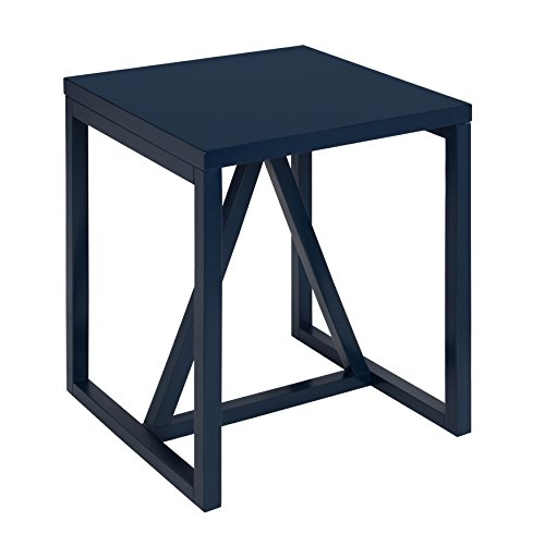 Cheap Kate and Laurel Kaya Square Wood Side Table, Navy Blue