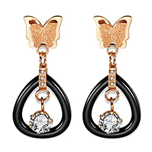 Gespout Frosted Butterfly Earrings for Women Jewellery Accessories Christmas Eve Wedding Anniversary Valentine's Day…