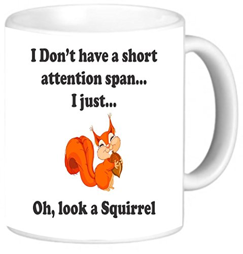 Rikki Knight Funny I Don't have a Short Attention Span Design 11 oz Photo Quality Ceramic Coffee Mugs Cups - Dishwasher and Microwave Safe