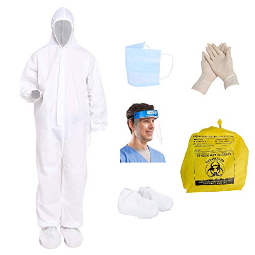 Antson-PPE-Safety-Kit-for-Full-Body-Protection-Non-SuffocatingComfortable-for-Travelling-90-GSM-Polyproplyene-Material-Free-Size-for-Men-Women-White-1-PPE-Kit-Set