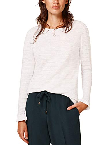 Wool Esprit - Esprit Women's with Wool and Cashmere: Textured Jumper Grey in Size Large