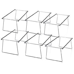 Officemate OIC Hanging File Folder Frames, Legal Size, Steel, Box of 6 Sets (98621)