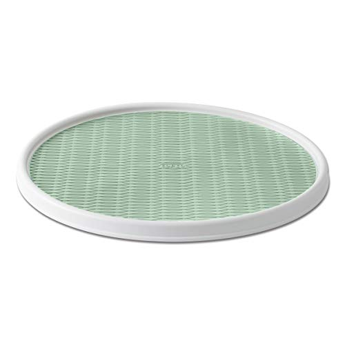 Copco 5246416 Non-Skid Pantry Cabinet Lazy Susan Turntable, 18-Inch, White/Pistachio