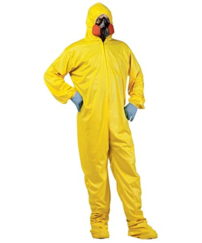 [Hazmat Suit Costume - Standard - Chest Size 33-45] (Biohazard Costumes)