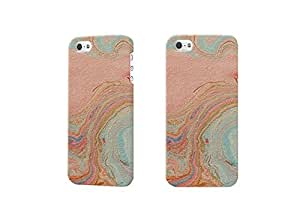 pink marble Photo 3D Case Plastic Hard Customized Personalized 3D Case For iPhone 5 & iPhone 5S