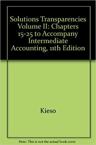 Solutions Transparencies Volume II Chapters 15 25 To