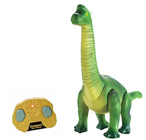 Liberty Imports Dino Planet Remote Control R/C Walking Dinosaur Toy with Shaking Head, Light Up Eyes and Sounds (Brachiosaurus) by Liberty Imports (Image #5)