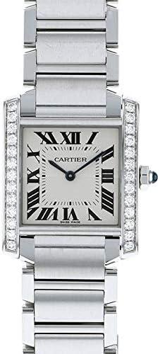 カルティエ Cartier タンク フランセーズ MM ベゼルダイヤ W4TA0009 新品 腕時計 レディース (W4TA0009) [並行輸入品]