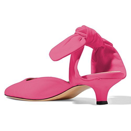 Toe Pumps Closed Low Kitten Women Cofmort Shoes Sandals Hot Pink 4 On Cute Heels FSJ Slip Size 15 Mules US wXnq0Yxq