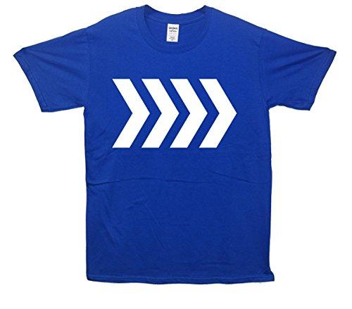 Roundabout Arrows T-Shirt - Blau - Large (107cm-112cm)