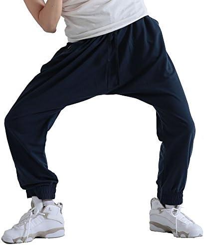 le-Rhythm(リアリズム) サルエル スウェットパンツ レディース ダンスパンツ バックポケット付き サルエルパンツ ネイビー RM1SW15-NVY