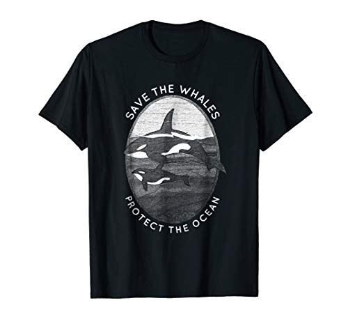 (Save The Whales: Protect The Ocean Tshirt Orca Killer Whales)