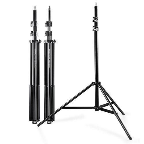 Walimex WT-806 Lampenstativ 3er Set (max. Höhe 256 cm und Federdämpfung, inkl. 3 Transporttaschen)