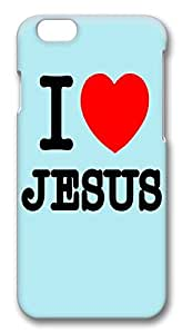 ACESR Coolest iPhone 6 Cases, I Love Jesus PC Hard Case Cover for Apple iPhone 6 (4.7 INCH) - 3D Design iPhone 6 Case