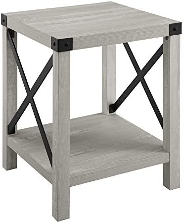home, kitchen, furniture, living room furniture, tables,  end tables 4 on sale Walker Edison Furniture Company Rustic Modern Farmhouse Metal in USA