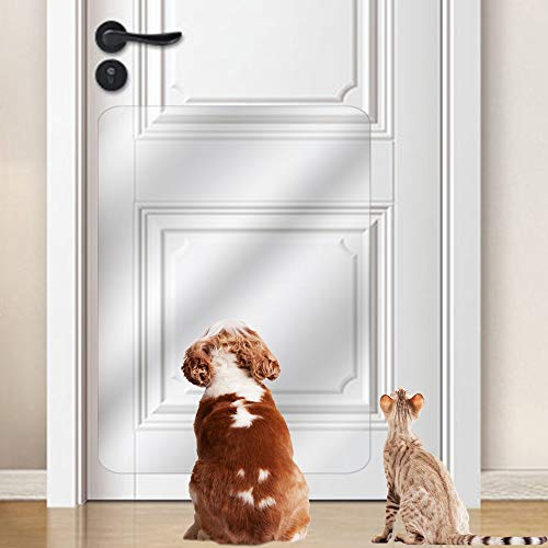 (IN HAND Door Scratch Protector, Protect Door, Furniture & Wall with Clear Premium Heavy Duty Door Cover Scratch Shield, Large Vinyl Door Guard for Pet Scratching (36