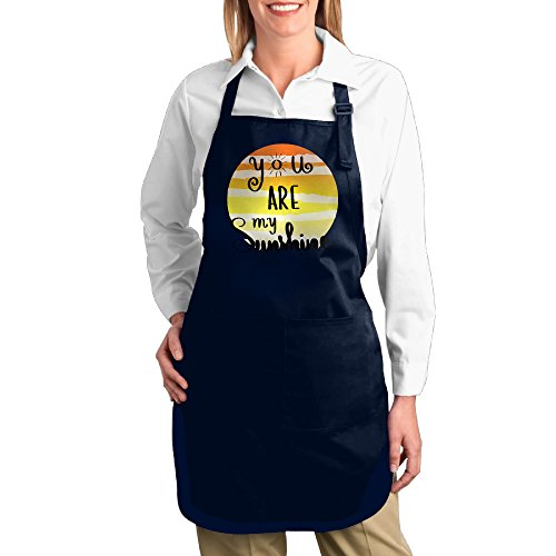 Dogquxio You Are My Sunshine Kitchen Helper Professional Bib Apron With 2 Pockets For Women Men Adults - And Sun Reviews Ski
