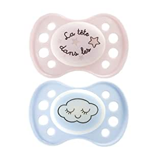 Dodie - Chupete noche, fase 1, 2-pack, silicona, n. 39