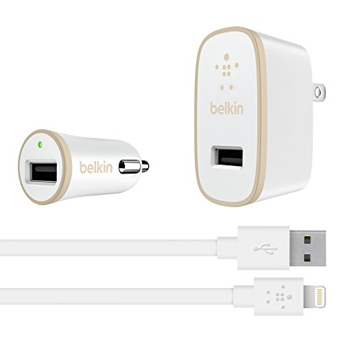 Belkin AC Wall Charger with 4' Lightning Cable, 2.4 Amp / 12