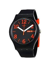 Swatch Orangio Black Dial Mens Watch SUOB723