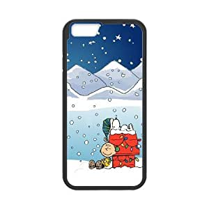 iPhone 6 4.7 Inch Cell Phone Case Black Snoopy myof