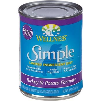 Wellness Simple Limited Ingredient Diet Grain Free Turkey and Potato Canned Dog Food, 12.5 oz., My Pet Supplies