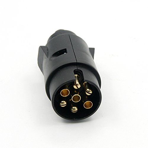 Plastic Connector 7 Pole (Trailer Plug 7-Pin 7-Pole Wiring Connector 12V Towbar Towing Plug N Type Trailer End)